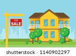 for sale wooden placard. vector ... | Shutterstock .eps vector #1140902297