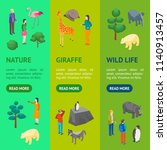 zoo concept banner vecrtical... | Shutterstock .eps vector #1140913457