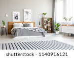 striped carpet in spacious... | Shutterstock . vector #1140916121