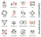 vector set of linear icons... | Shutterstock .eps vector #1140916451