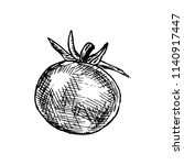 hand drawn tomato doodle....   Shutterstock .eps vector #1140917447