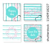 wedding invitation set with... | Shutterstock .eps vector #1140918227