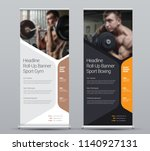 template of vertical roll up... | Shutterstock .eps vector #1140927131