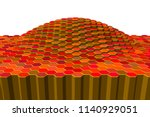 abstract object of hexagons. 3d ... | Shutterstock .eps vector #1140929051