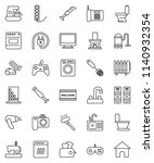 thin line vector icon set  ... | Shutterstock .eps vector #1140932354