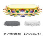 lotus flower in buddhism | Shutterstock .eps vector #1140936764