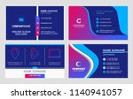 set of business card templates. ... | Shutterstock .eps vector #1140941057