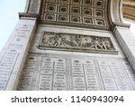 triumphal arch paris | Shutterstock . vector #1140943094