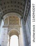 triumphal arch paris | Shutterstock . vector #1140943097