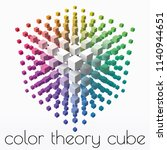 color theory cube with small... | Shutterstock .eps vector #1140944651
