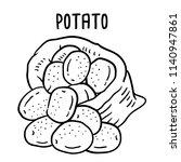 hand drawn illustration of... | Shutterstock .eps vector #1140947861