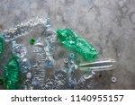 plastic bottles still life... | Shutterstock . vector #1140955157