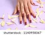 hands of woman with stylish... | Shutterstock . vector #1140958367
