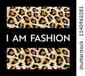 fashion design print with... | Shutterstock .eps vector #1140963281