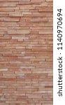 wall facade bricks new exterior ... | Shutterstock . vector #1140970694