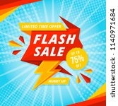 flash sale banner template... | Shutterstock .eps vector #1140971684