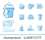 lineo blue   cleaning and... | Shutterstock .eps vector #1140971777