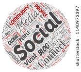 vector conceptual social media... | Shutterstock .eps vector #1140973397
