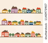 town houses row | Shutterstock .eps vector #1140973907