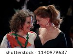 Small photo of Venice, Italy. 03 September, 2017. Susan Sarandon and Claudia Cardinale walks the red carpet ahead of the 'The Leisure Seeker (Ella & John)' screening during the 74th Venice Film Festival