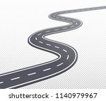 curved road or highway with... | Shutterstock .eps vector #1140979967
