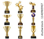 award trophy vector winners... | Shutterstock .eps vector #1140985907