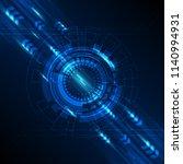 blue abstract technology... | Shutterstock .eps vector #1140994931