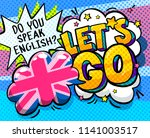 concept of studing english. do... | Shutterstock .eps vector #1141003517