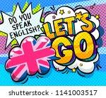 concept of studing english. do... | Shutterstock .eps vector #1141003517