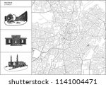 nicosia city map with hand... | Shutterstock .eps vector #1141004471