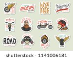 biker club stickers templates.... | Shutterstock .eps vector #1141006181