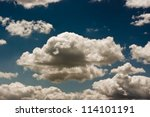 Clouds In Dark Blue Sky