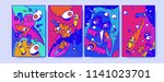 abstract colorful liquid and...   Shutterstock .eps vector #1141023701