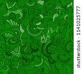 green zentangle seamless...   Shutterstock .eps vector #1141025777