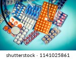 medicine farma background | Shutterstock . vector #1141025861