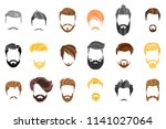 hair  beard and face  hair ... | Shutterstock .eps vector #1141027064