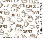 coffee cups on white background.... | Shutterstock .eps vector #1141029974