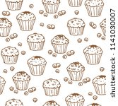 muffins on white background.... | Shutterstock .eps vector #1141030007