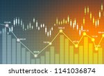financial stock market  graph.... | Shutterstock . vector #1141036874