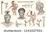 african tribes  portraits of... | Shutterstock .eps vector #1141037501