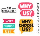 why choose us  set of badges ... | Shutterstock .eps vector #1141038194