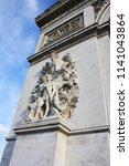 triumphal arch paris france | Shutterstock . vector #1141043864