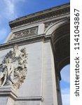 triumphal arch paris france | Shutterstock . vector #1141043867