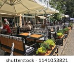 exterior cafes on the street... | Shutterstock . vector #1141053821