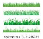 vector green grass eco natural... | Shutterstock .eps vector #1141055384