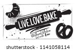 charcoal bakery poster. kitchen ... | Shutterstock .eps vector #1141058114