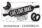 charcoal bakery poster. kitchen ... | Shutterstock .eps vector #1141058114