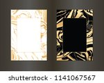 set of vector black and gold... | Shutterstock .eps vector #1141067567