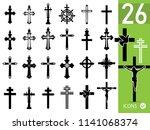 set of crucifixes   Shutterstock .eps vector #1141068374
