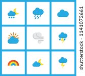weather icons flat style set... | Shutterstock .eps vector #1141072661